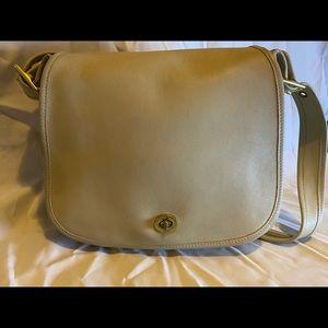 Coach leather crossbody bag, tan colour